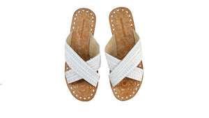 Leather-shoes-Paramita 20mm Flat - White-sandals flat-NILUH DJELANTIK-NILUH DJELANTIK