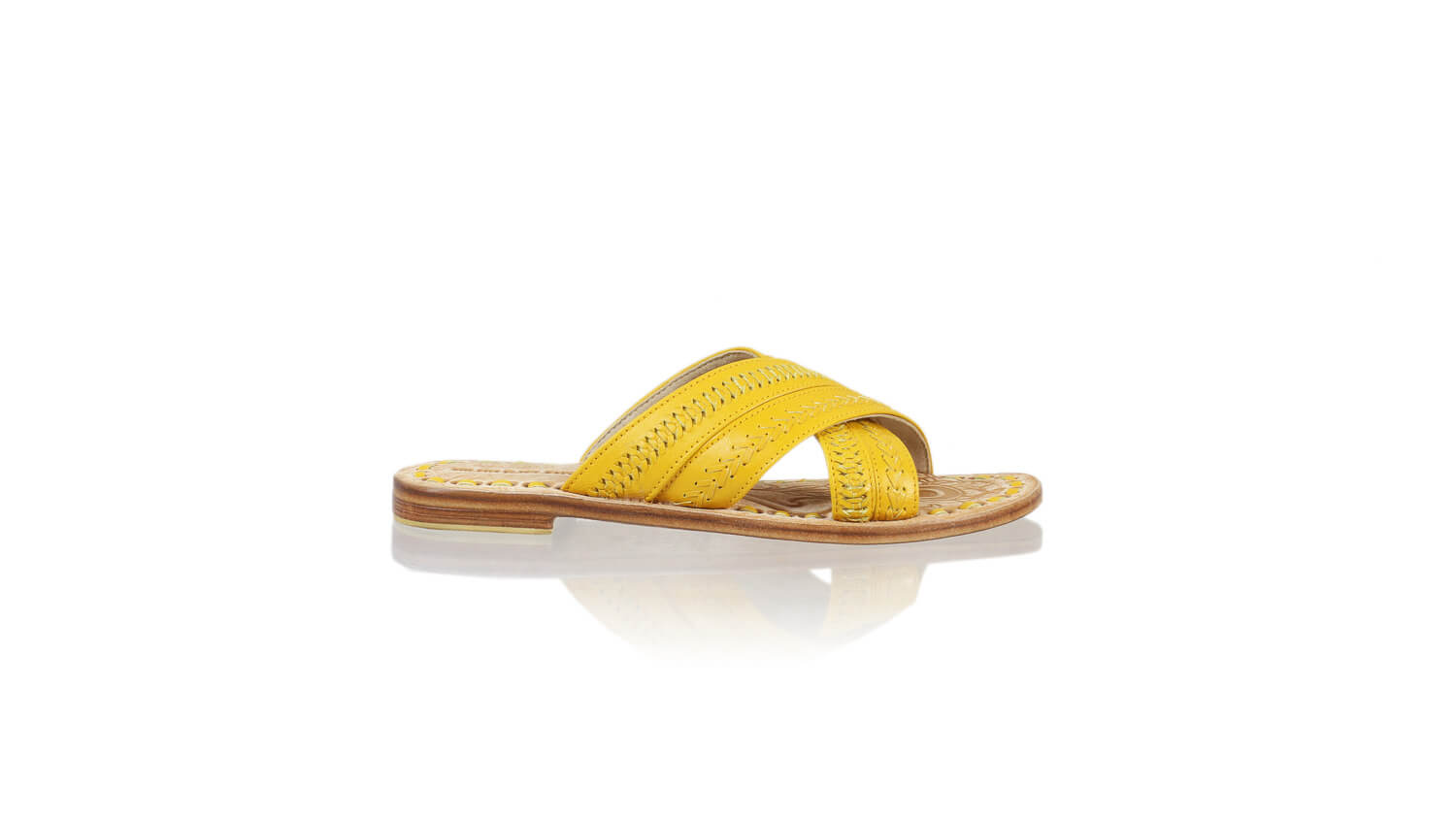Leather-shoes-Paramita 20mm Flat - Yellow-sandals flat-NILUH DJELANTIK-NILUH DJELANTIK