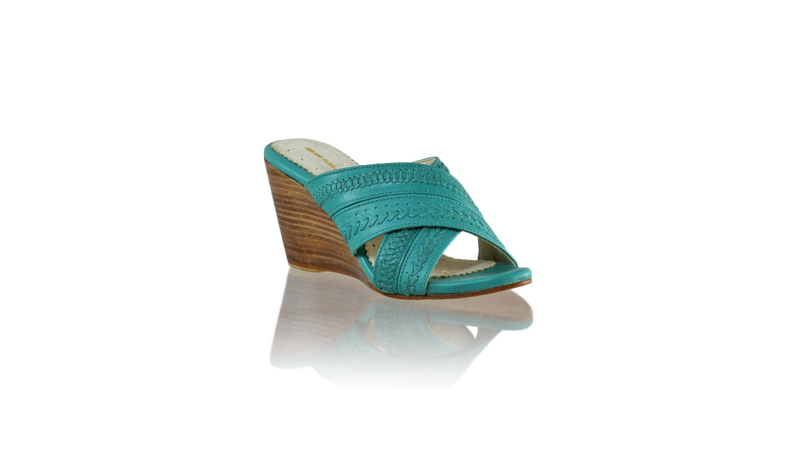 Leather-shoes-Paramita 80mm - Dark Aqua-sandals flat-NILUH DJELANTIK-NILUH DJELANTIK