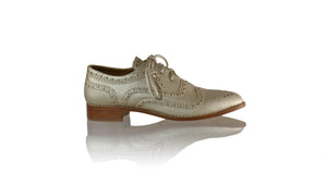 Leather-shoes-Pedro 25mm Flat - Gold Faux Leather-flats laceup-NILUH DJELANTIK-NILUH DJELANTIK