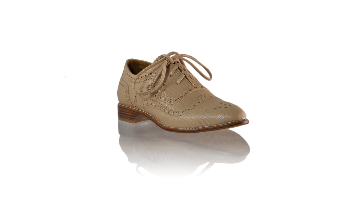 Leather-shoes-Pedro 25mm - Nude Faux Leather-flats laceup-NILUH DJELANTIK-NILUH DJELANTIK