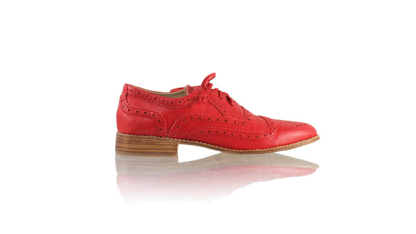 Leather-shoes-Pedro 25mm Flat - Red-flats laceup-NILUH DJELANTIK-NILUH DJELANTIK