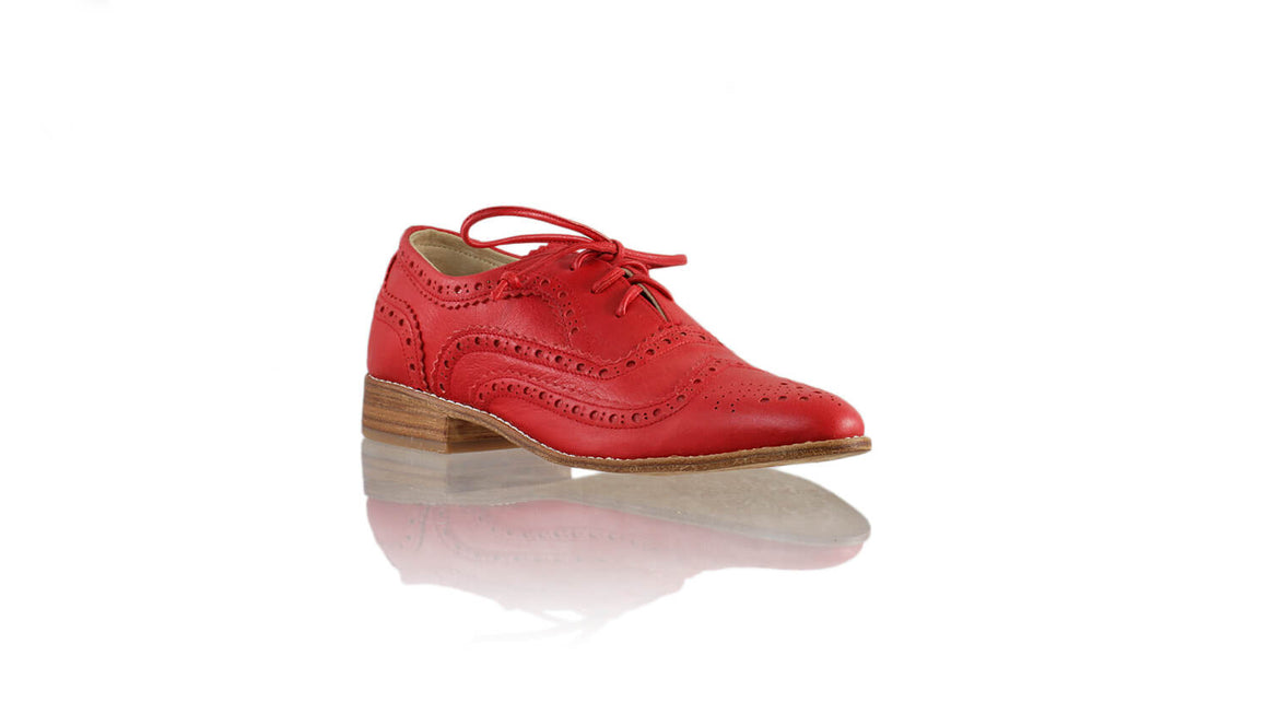 Leather-shoes-Pedro 25mm - Red-flats laceup-NILUH DJELANTIK-NILUH DJELANTIK