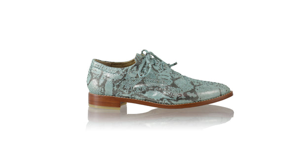 Leather-shoes-Pedro 25mm Flat - Emerald Snake Print-flats laceup-NILUH DJELANTIK-NILUH DJELANTIK