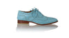 leather shoes Pedro 25mm Flats - Light Blue, flats laceup , NILUH DJELANTIK - 1