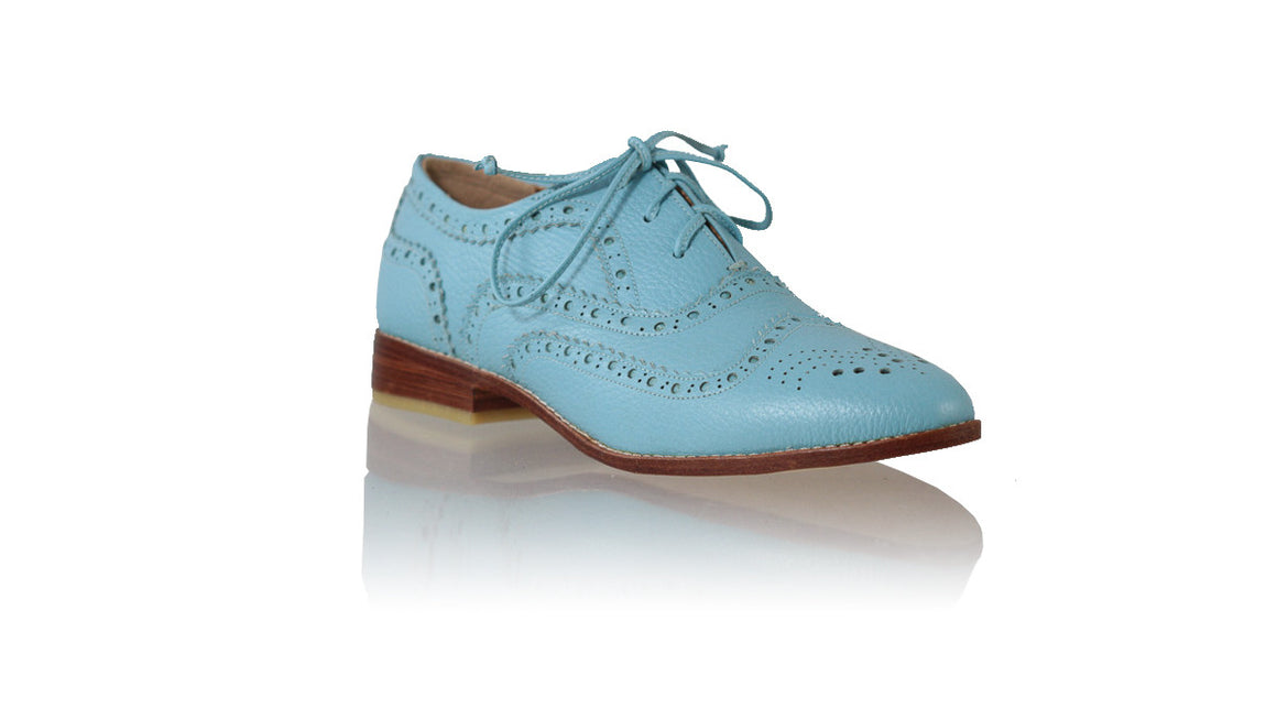 Leather-shoes-Pedro 25mm Flats - Light Blue-flats laceup-NILUH DJELANTIK-NILUH DJELANTIK