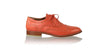 leather shoes Pedro 25mm Flats - Orange, flats laceup , NILUH DJELANTIK - 1