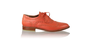 Leather-shoes-Pedro 25mm Flat - Orange-flats laceup-NILUH DJELANTIK-NILUH DJELANTIK