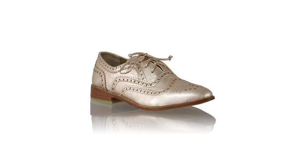 Leather-shoes-Pedro 25mm Flat - Rose Gold-flats laceup-NILUH DJELANTIK-NILUH DJELANTIK