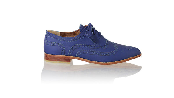 Leather-shoes-Pedro 25mm Flat - Royal Blue-flats laceup-NILUH DJELANTIK-NILUH DJELANTIK