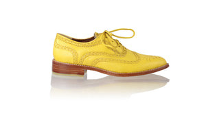 Leather-shoes-Pedro 25mm Flats - Yellow-flats laceup-NILUH DJELANTIK-NILUH DJELANTIK