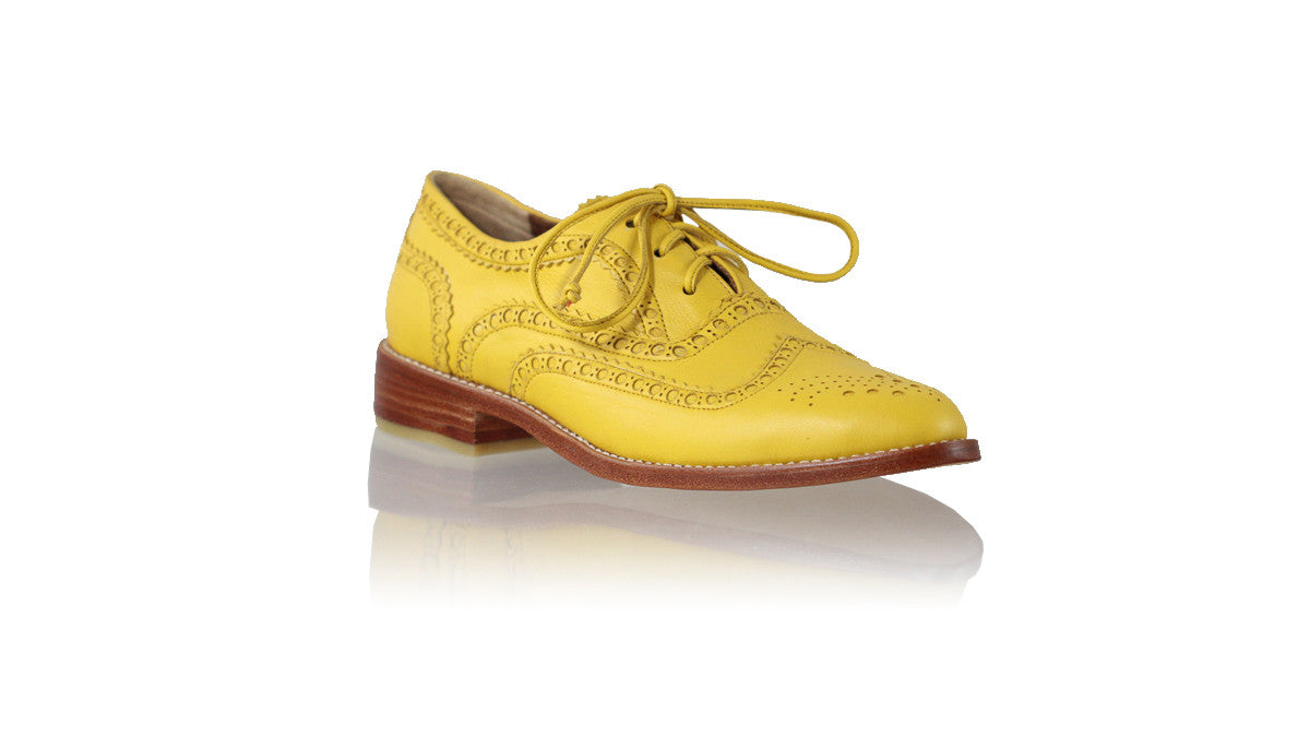 Leather-shoes-Pedro 25mm Flat - Yellow-01-flats laceup-NILUH DJELANTIK-NILUH DJELANTIK
