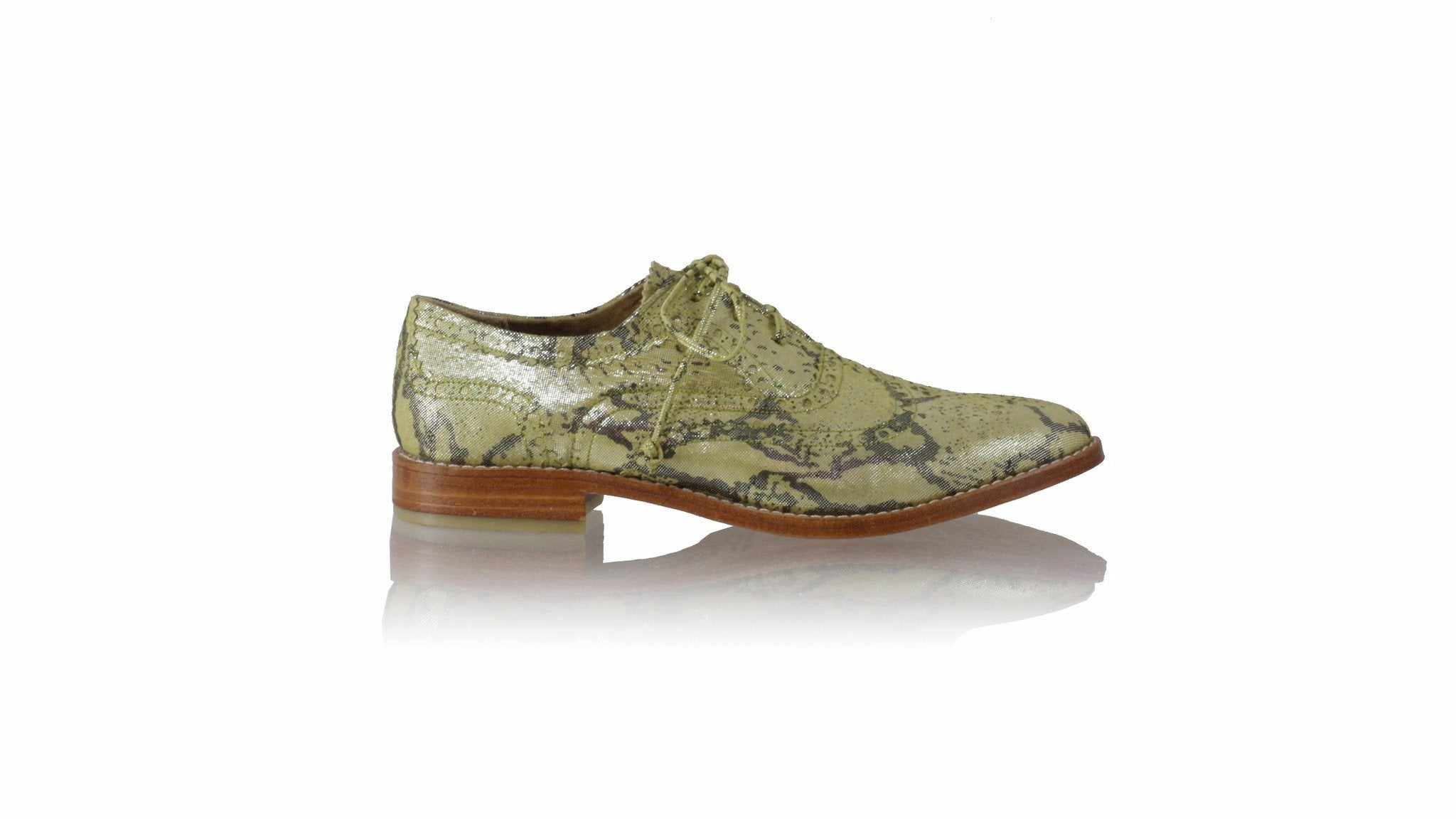 Leather-shoes-Pedro 25mm Flat - Yellow Snake Print-flats laceup-NILUH DJELANTIK-NILUH DJELANTIK