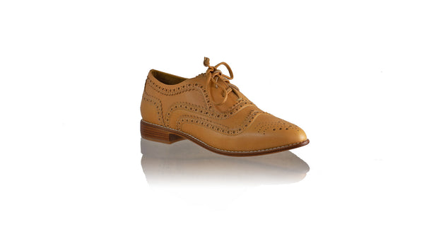 Leather-shoes-Pedro 25mm Flat - Tan-01-flats laceup-NILUH DJELANTIK-NILUH DJELANTIK