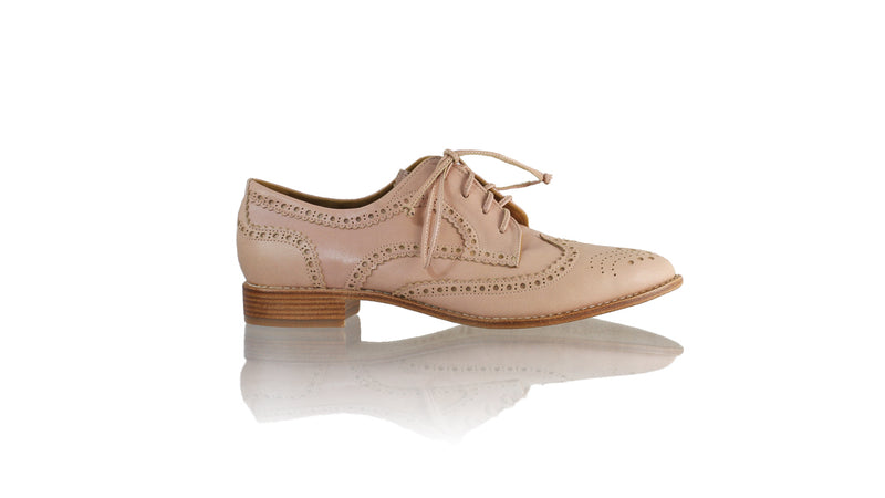 Leather-shoes-Mika 25mm Flat - Dusty Pink Leather-flats laceup-NILUH DJELANTIK-NILUH DJELANTIK