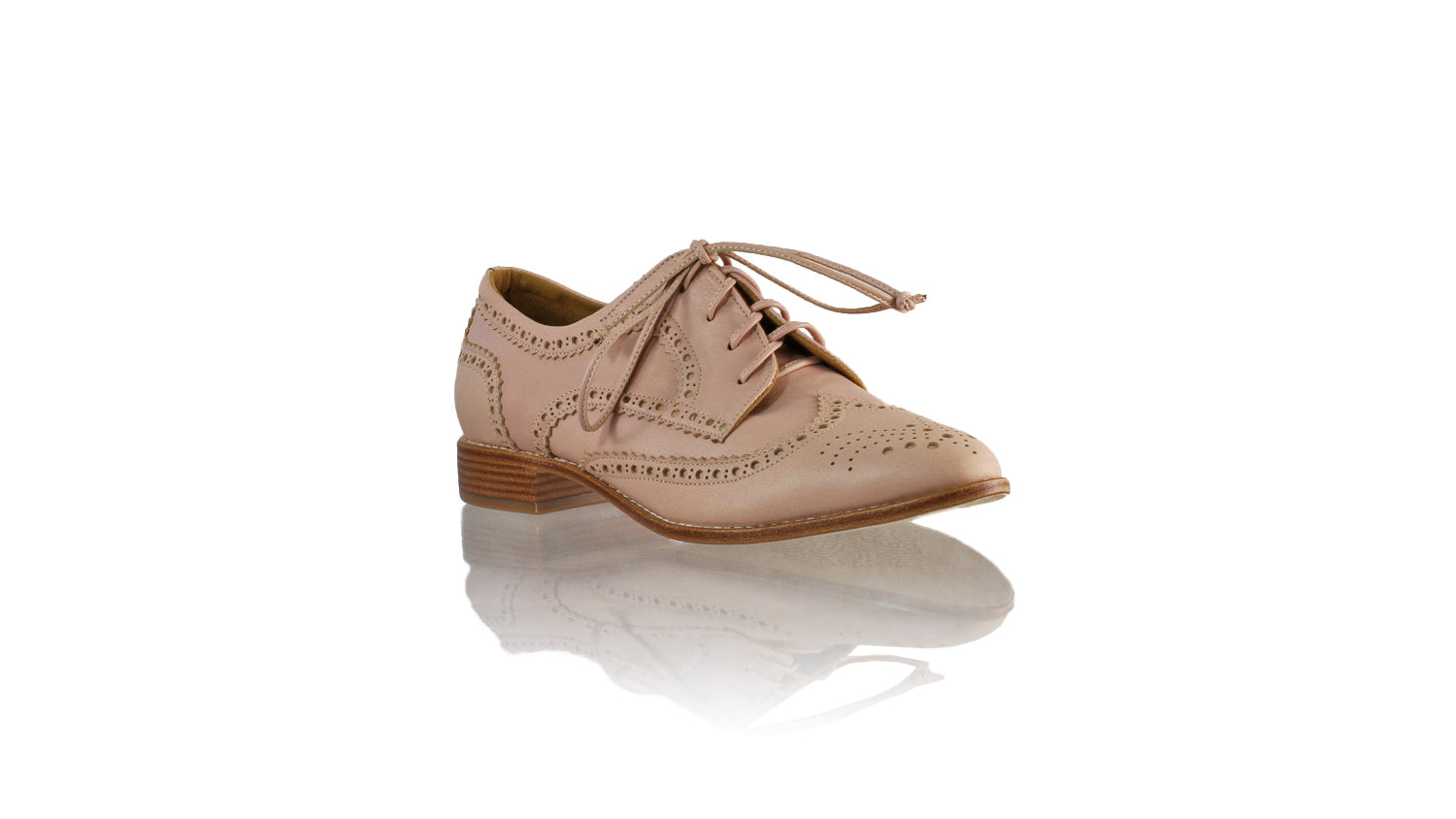 Leather-shoes-Pedro 25mm Flat - Baby Pink Leather-flats laceup-NILUH DJELANTIK-NILUH DJELANTIK