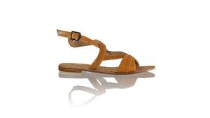 Leather-shoes-Peru Flats 20mm - Camel-sandals flat-NILUH DJELANTIK-NILUH DJELANTIK