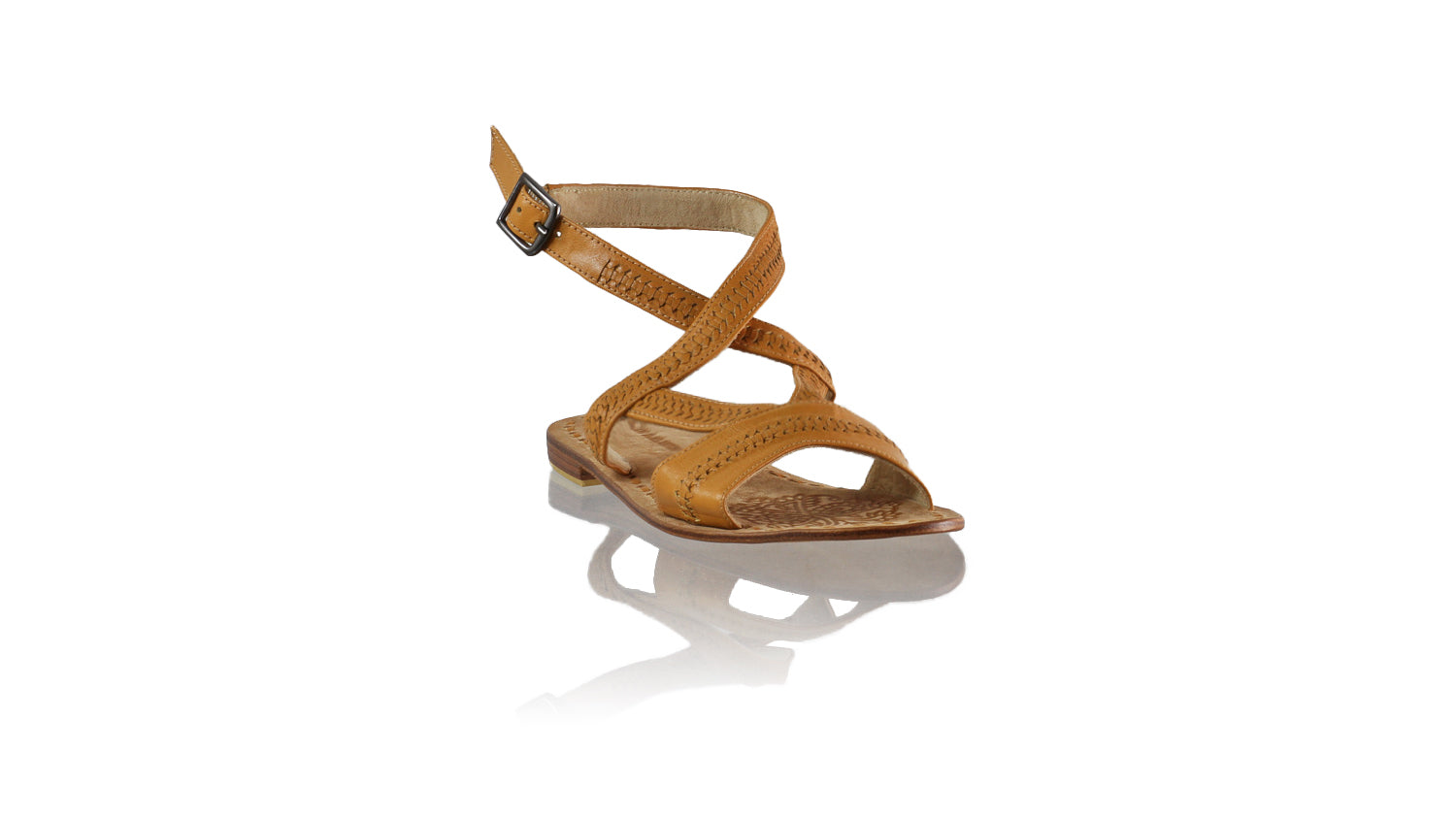 Leather-shoes-Peru 20mm Flat - Camel-sandals flat-NILUH DJELANTIK-NILUH DJELANTIK