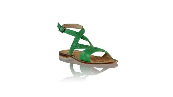Leather-shoes-Peru 20mm Flat - Green-sandals flat-NILUH DJELANTIK-NILUH DJELANTIK
