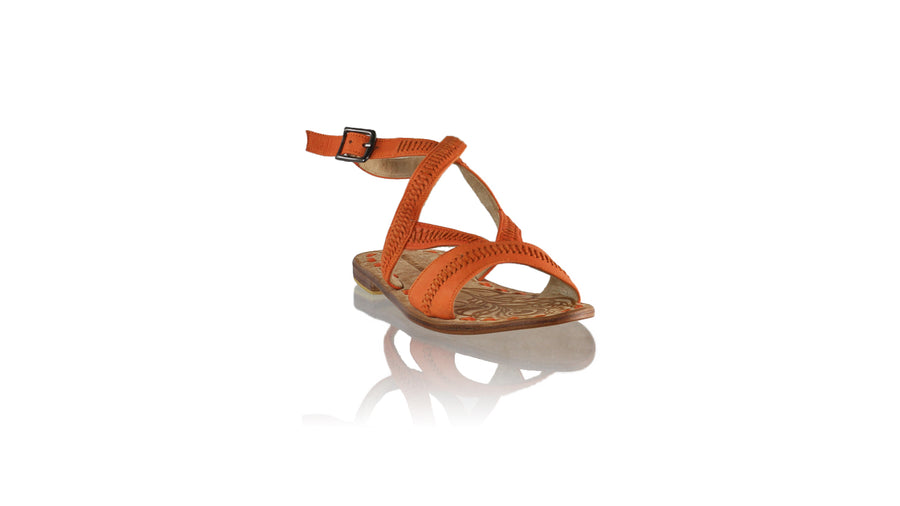Leather-shoes-Peru 20mm Flat - Orange-sandals flat-NILUH DJELANTIK-NILUH DJELANTIK