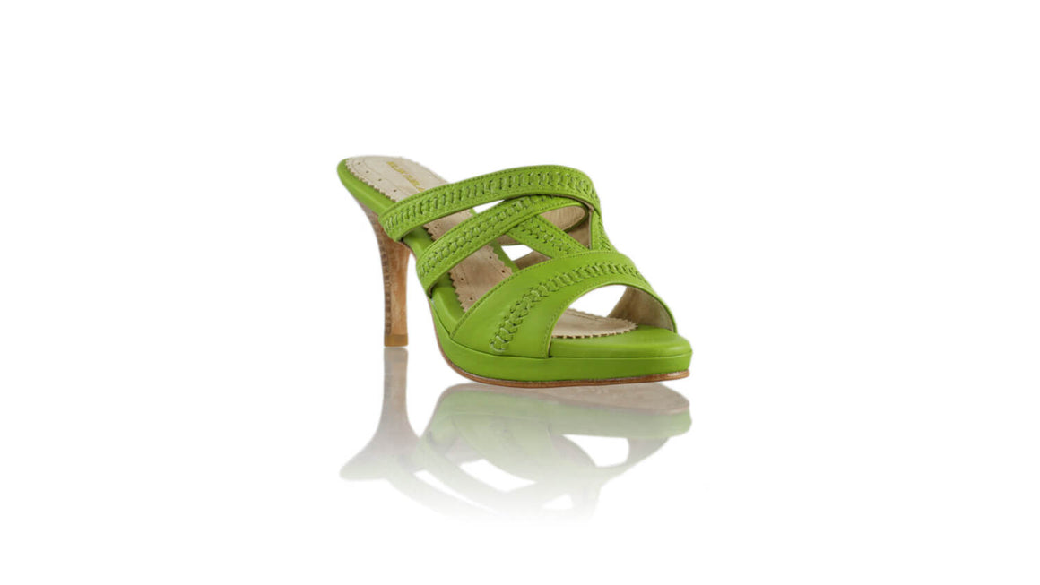 Leather-shoes-Peru No Strap PF 90mm SH - Lime Green BKK-sandals higheel-NILUH DJELANTIK-NILUH DJELANTIK