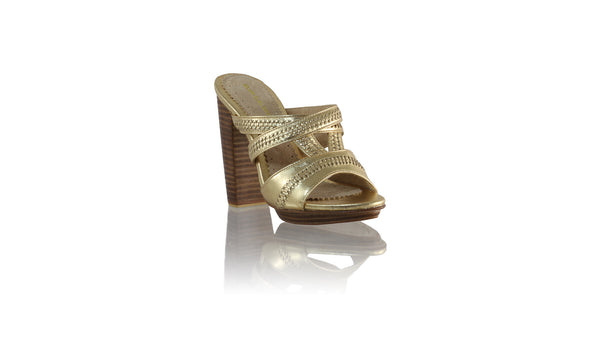 Leather-shoes-Peru Without Strap 110mm WH PF - Gold-sandals higheel-NILUH DJELANTIK-NILUH DJELANTIK