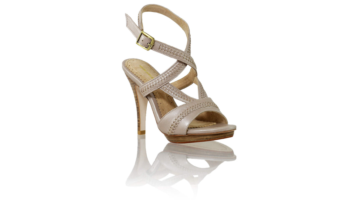 Leather-shoes-Peru PF 115mm SH - Cream Metallic-sandals higheel-NILUH DJELANTIK-NILUH DJELANTIK