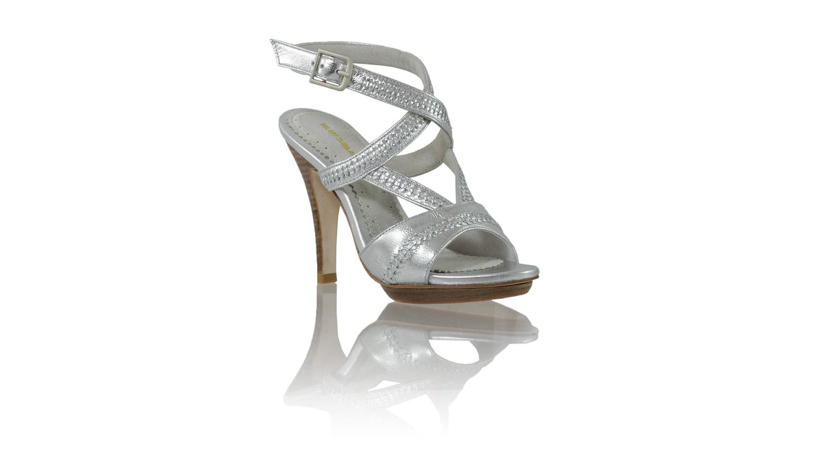 Leather-shoes-Peru PF 115mm SH - Silver-sandals higheel-NILUH DJELANTIK-NILUH DJELANTIK