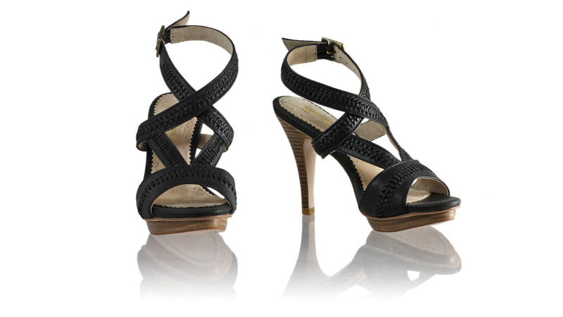 Leather-shoes-Peru 115mm SH PF - Black-sandals higheel-NILUH DJELANTIK-NILUH DJELANTIK