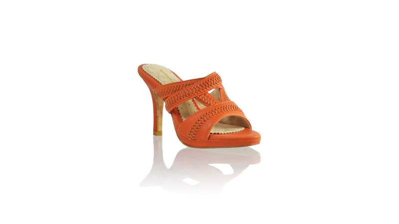 Leather-shoes-Peru Without Strap 90mm SH-01 PF - Orange-sandals higheel-NILUH DJELANTIK-NILUH DJELANTIK