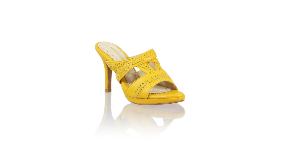 Leather-shoes-Peru Without Strap 90mm SH-01 PF - Yellow-sandals higheel-NILUH DJELANTIK-NILUH DJELANTIK