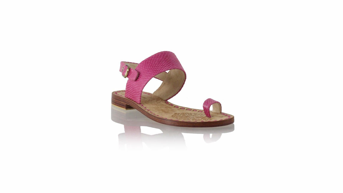 Leather-shoes-Prana 20mm Flats - Pink Snake Print-sandals flat-NILUH DJELANTIK-NILUH DJELANTIK