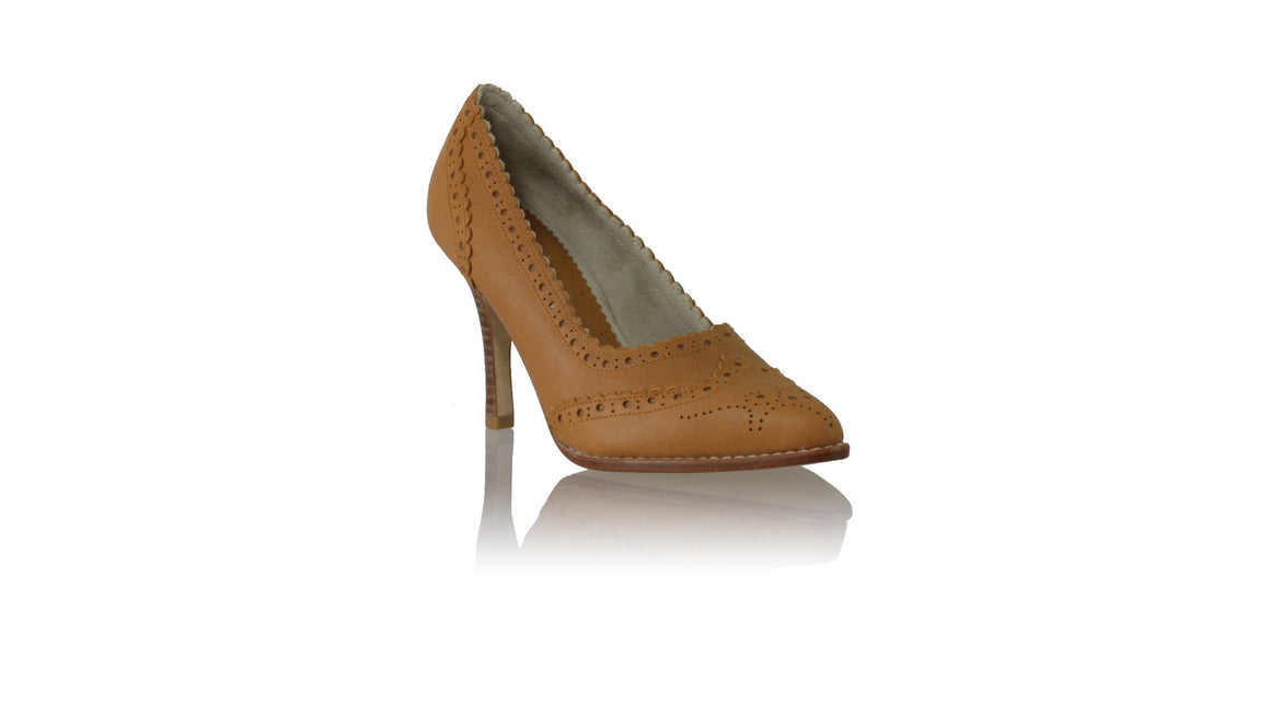Leather-shoes-Princess 90mm SH - Camel-pumps highheel-NILUH DJELANTIK-NILUH DJELANTIK