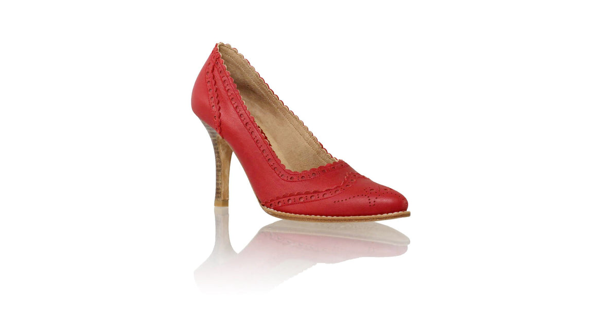 Leather-shoes-Princess 90mm SH - Red-pumps highheel-NILUH DJELANTIK-NILUH DJELANTIK