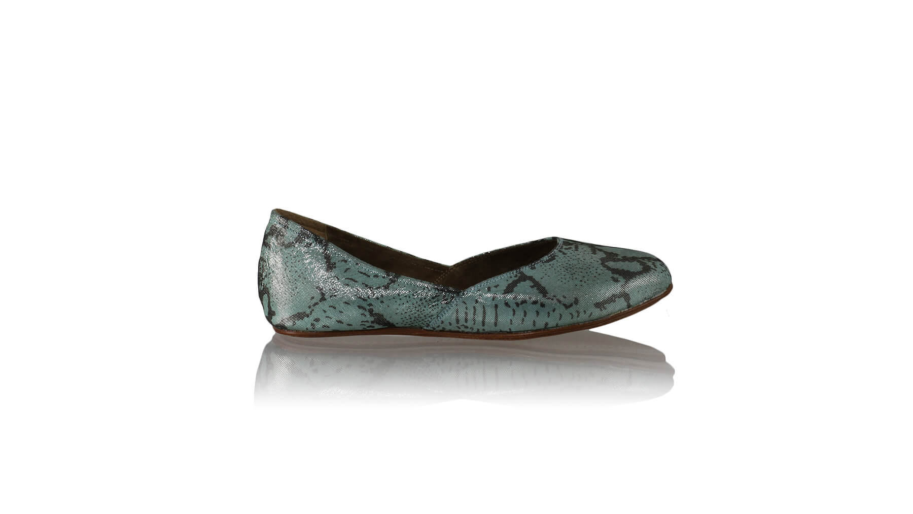 Leather-shoes-Punjab 5mm Ballet - Blue Cobra Print-flats ballet-NILUH DJELANTIK-NILUH DJELANTIK