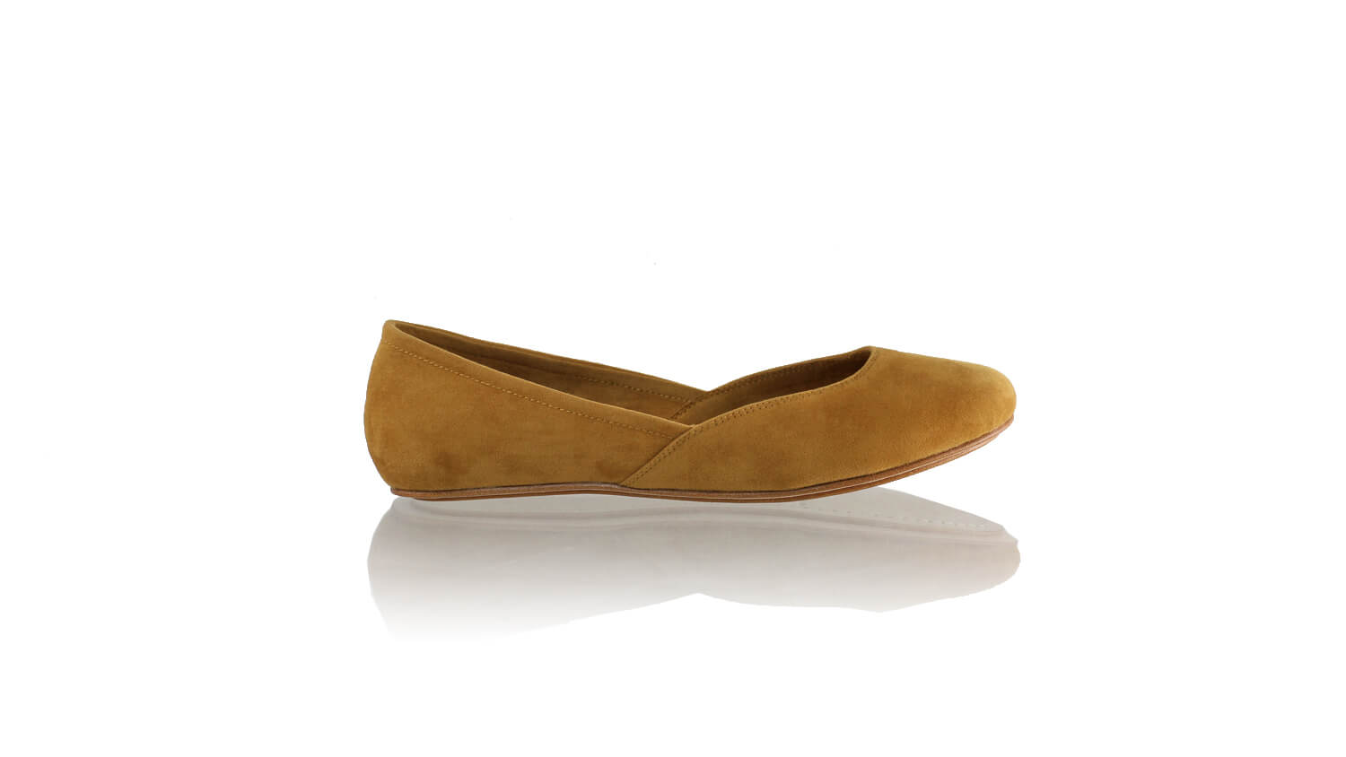 Leather-shoes-Punjab 5mm Ballet - Brown Microsuede 2-sandals flat-NILUH DJELANTIK-NILUH DJELANTIK