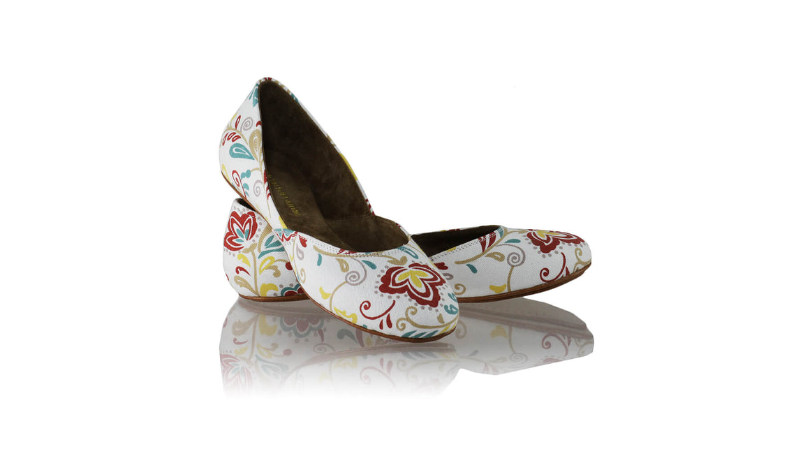 Leather-shoes-Punjab 5mm Ballet - Flower White Canvas-flats ballet-NILUH DJELANTIK-NILUH DJELANTIK