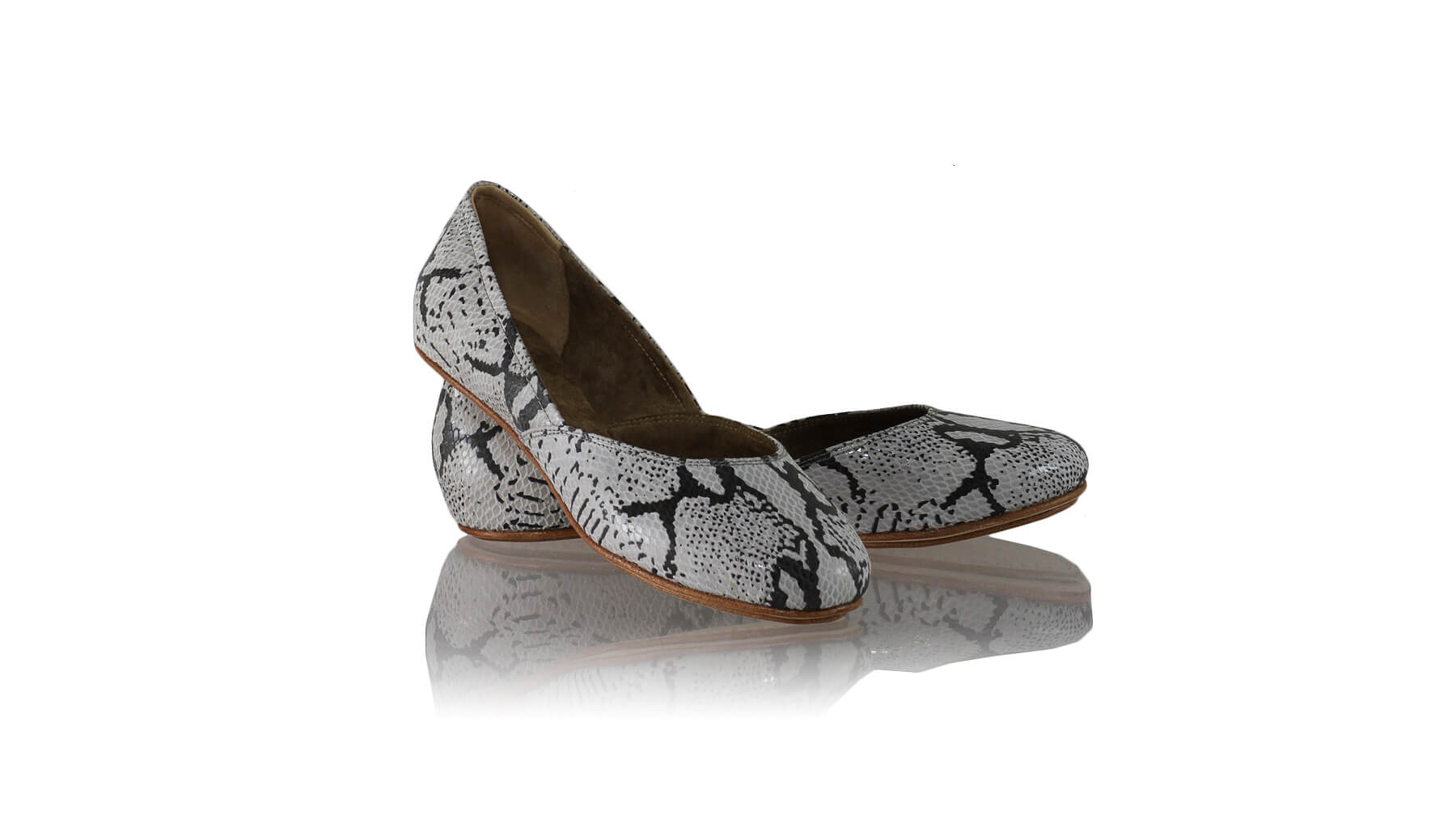 Leather-shoes-Punjab 5mm Ballet - Grey Cobra Print-flats ballet-NILUH DJELANTIK-NILUH DJELANTIK