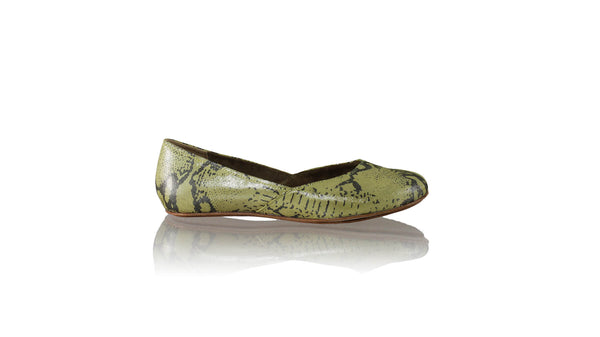 Leather-shoes-Punjab 5mm Ballet - Yellow Cobra Print-flats ballet-NILUH DJELANTIK-NILUH DJELANTIK