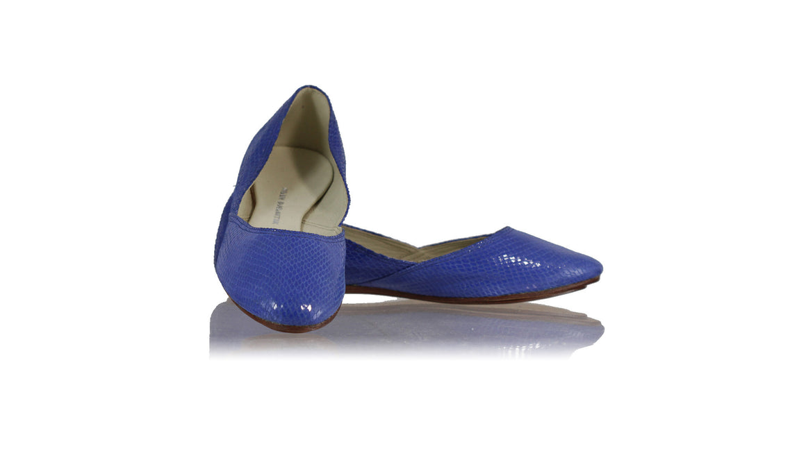 leather shoes Punjab ballet flats - Blue Snake Pattern, flats ballet , NILUH DJELANTIK - 1