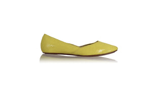 leather shoes Punjab Ballet - Yellow Snake Print, flats ballet , NILUH DJELANTIK - 1