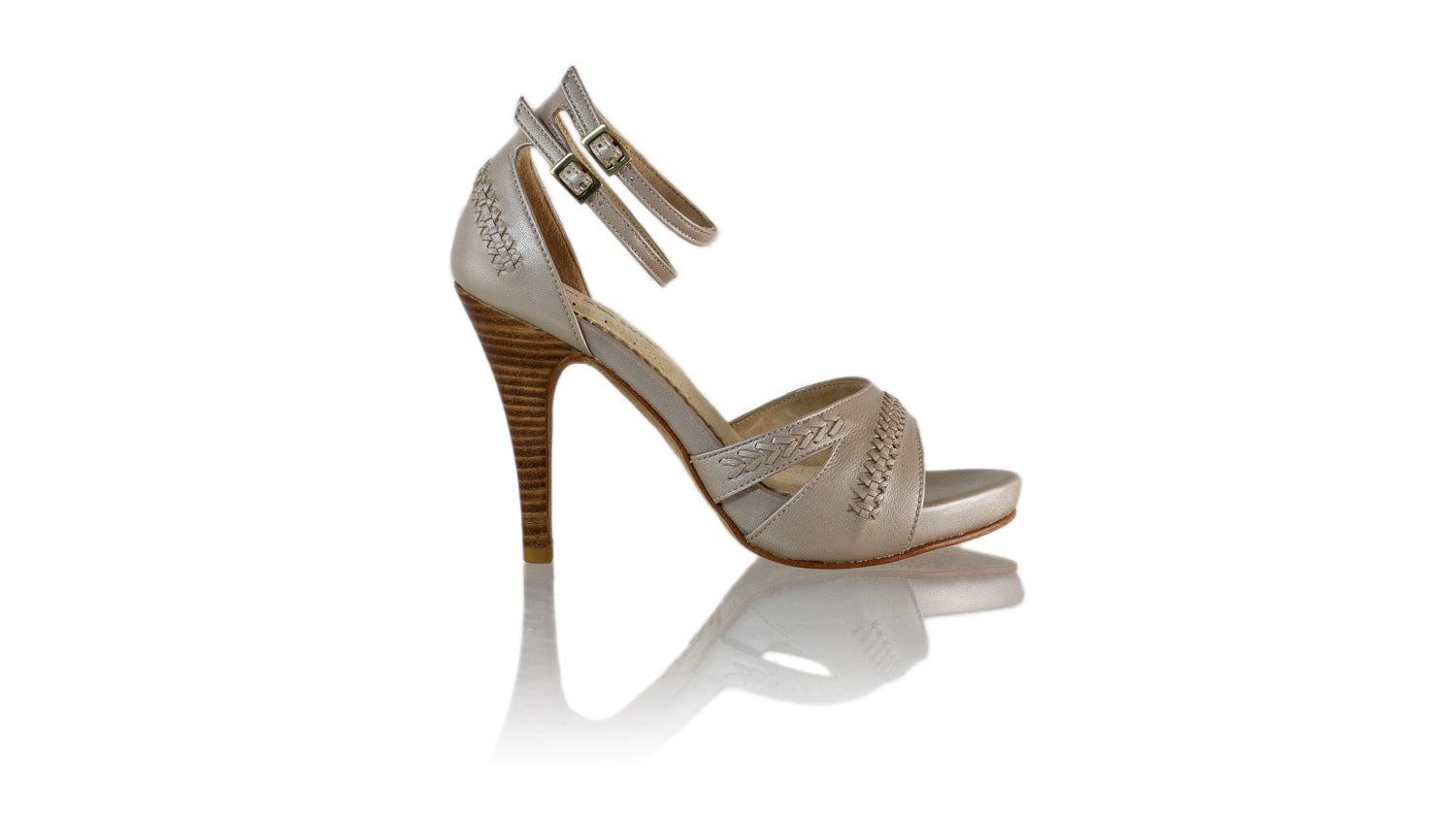 Leather-shoes-Rin 115mm SH PF - Cream Metallic-pumps highheel-NILUH DJELANTIK-NILUH DJELANTIK