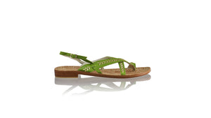 Leather-shoes-Romance 20mm - Green BKK & Gold-sandals flat-NILUH DJELANTIK-NILUH DJELANTIK