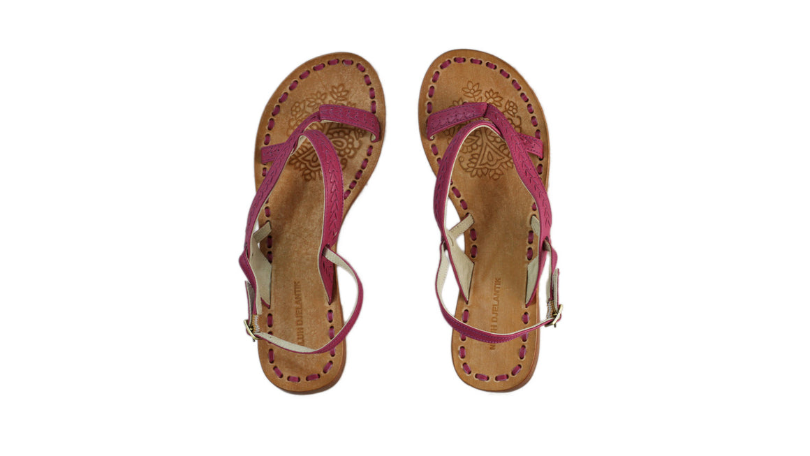 Leather-shoes-Romance Flat 20mm - All Fuschia BKK-sandals flat-NILUH DJELANTIK-NILUH DJELANTIK
