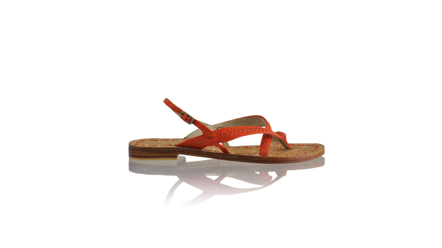 Leather-shoes-Romance 20mm Flat - All Orange BKK-sandals flat-NILUH DJELANTIK-NILUH DJELANTIK
