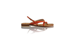 Leather-shoes-Romance Flat 20mm - All Orange BKK-sandals flat-NILUH DJELANTIK-NILUH DJELANTIK
