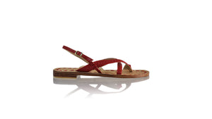 Leather-shoes-Romance Flat 20mm - All Red BKK-sandals flat-NILUH DJELANTIK-NILUH DJELANTIK