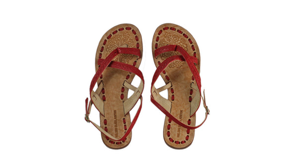 Leather-shoes-Romance 20mm Flat - All Red BKK-sandals flat-NILUH DJELANTIK-NILUH DJELANTIK