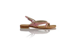 Leather-shoes-Romance 20mm Flat - Soft Pink & Gold-sandals flat-NILUH DJELANTIK-NILUH DJELANTIK