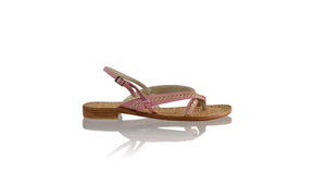 Leather-shoes-Romance Flat 20mm - Soft Pink & Gold-sandals flat-NILUH DJELANTIK-NILUH DJELANTIK